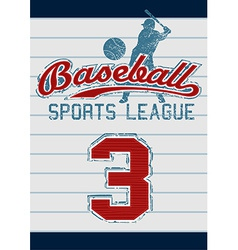 Baseball sports league vector