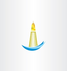 Lighthouse symbol design vector