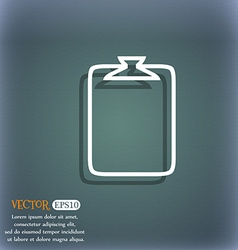 File annex icon paper clip symbol attach sign on vector