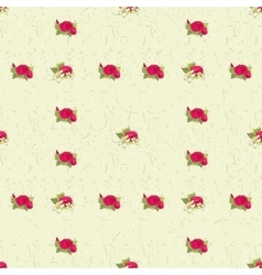 Seamless pattern with red peonies vector