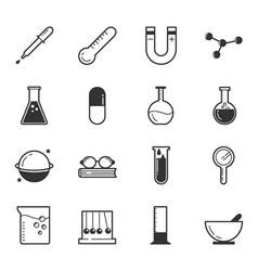 Set of science icons  eps10 format vector image