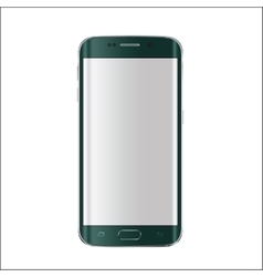 New version of modern smartphone with blank white vector