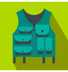 Hunter vest flat icon vector