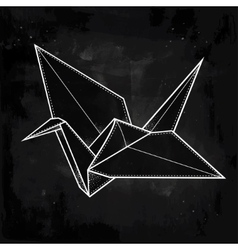 Stylized paper crane vector