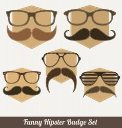 Funny hipster badges vector