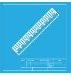 Centimeter ruler sign white section of icon on vector