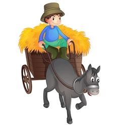 A man with a horse vector