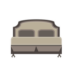 bed icon bedroom room hospital isolated furniture vector image vector image