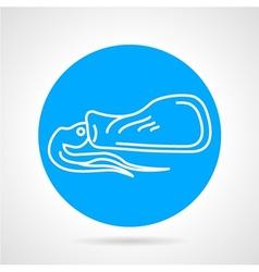 Calamari round icon vector