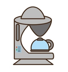 Cartoon coffee machine appliance kitchen vector