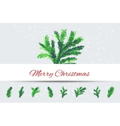 Christmas tree brunches vector