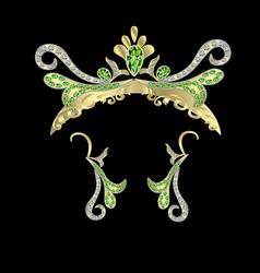 Crown and earrings vector