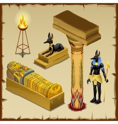 Egyptian symbols of ancient civilization big set vector image