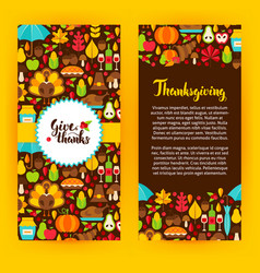 Flyer template thanksgiving vector