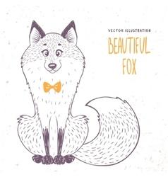 fox doodle vector image vector image