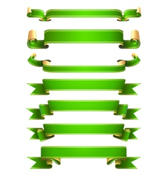 green banners vector image vector image