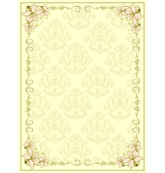 Invitation with floral vector