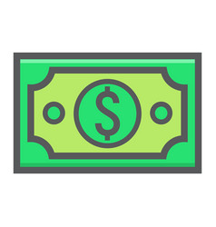 Money dollar filled outline icon business vector