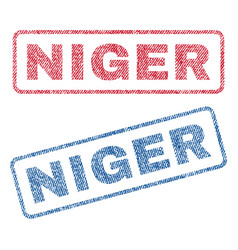 Niger textile stamps vector