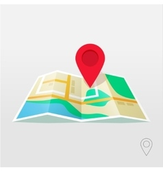 Road map pointer GPS navigation locator vector image vector image