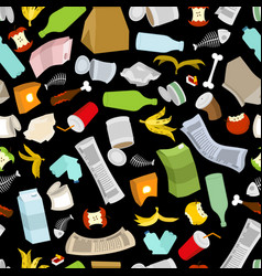rubbish seamless pattern garbage texture trash vector image vector image