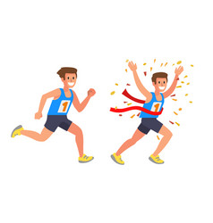 Running athlete sprinter man vector