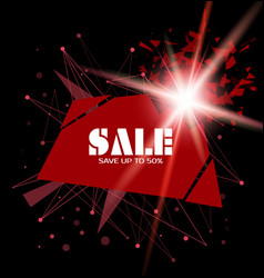 Sale template banner with explosion vector