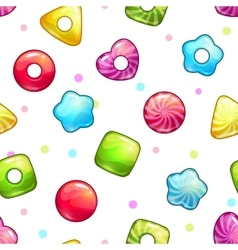 Seamless pattern with colorful glossy lollipops vector image vector image