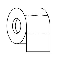 toilet paper roll in monochrome silhouette vector image