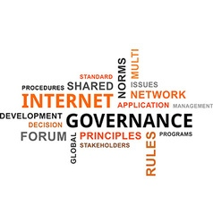 Word cloud internet governance vector