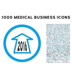 2016 ahead arrow icon with 1000 medical business vector