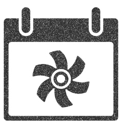 Fan calendar day grainy texture icon vector
