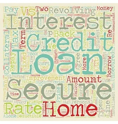 Secure vs unsecured loans text background vector