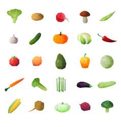 Greengrocery ripe fruits set vector