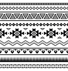 Aztec mexican seamless pattern vector image