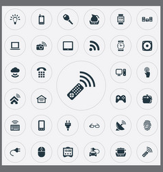Set of simple internet icons vector