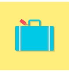 Luggage flat icon travel conception vector