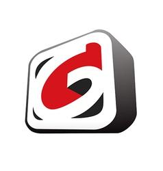 3d letter g business logo vector