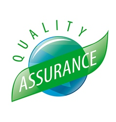 Round logo quality assurance vector