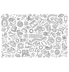 Photo doodles hand drawn sketchy symbols vector
