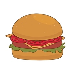 Delicious fast food and gastronomy vector
