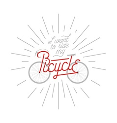 Abstract bicycle with quote vector