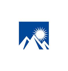 Abstract mountain icon logo vector