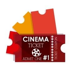 Cinema tickets design vector