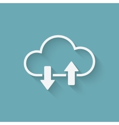 Cloud download and upload concept symbol vector image vector image