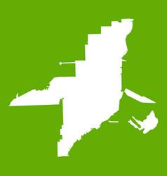 florida map icon green vector image