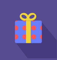 Gift boxes with red circle pattern and yellow vector