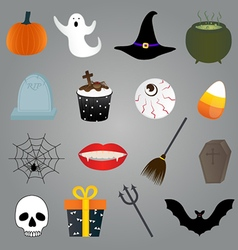 Halloween items set vector