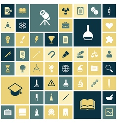 Icons for education science and medical vector