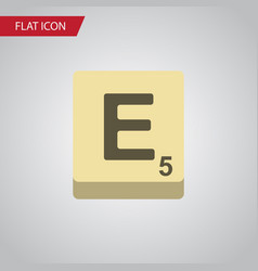 Isolated game flat icon mahjong element vector